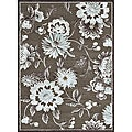 Madison LT Brown/ Beige Rug (5'3 x 7'7)