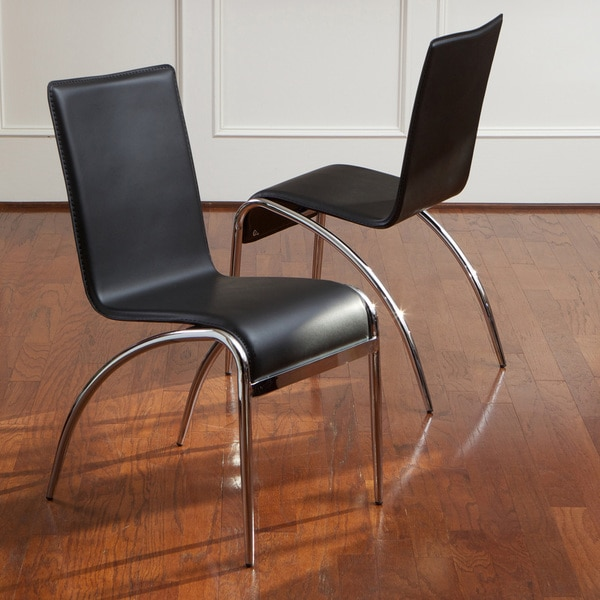 Knight Home Kensington Black Modern Chairs Set Of 2 Overstock