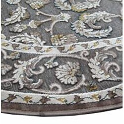 Madison Grey/ Gold Rug (3'10 Round)