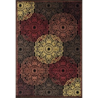 Madison Black/ Multi Rug (7'7 x 10'6)