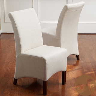 Christopher Knight Home Gilmore Beige Fabric Dining Chairs (Set of 2)