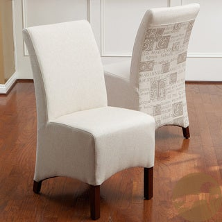 Christopher Knight Home Gilmore Beige Printed Fabric Dining Chairs (Set of 2)