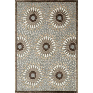 Madison Grey and Brown Rug (5'3 x 7'7)