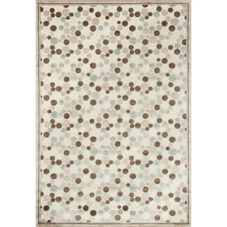 Madison Ivory and Multicolored Rug (9'2 x 12'7)