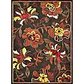 Madison Dark Brown/ Rust Rug (5' 3 x 7' 7)