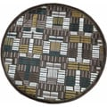 Madison Brown/ Teal Rug (3'10 Round)