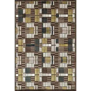 Madison Brown/ Teal Rug (9' 2 x 12' 7)