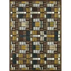 Madison Brown/ Teal Rug (7' 7 x 10' 6)