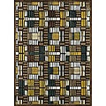 Madison Brown/ Teal Rug (3'10 x 5'7)