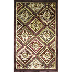 Madison Dark Brown/ Rust Rug (9'2 x 12'7)