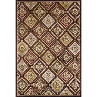 Madison Dark Brown/ Rust Rug (7'7 x 10'6)