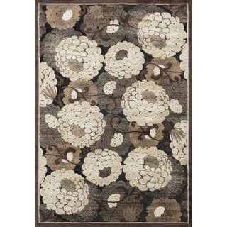 Madison Black/ Beige Rug (5'3 x 7'7)