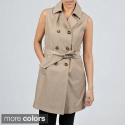 Tommy Hilfiger Sleeveless Belted Trench with Bolero Top