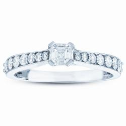 14k White Gold 3/4ct TDW Diamond Ring (H-I, I1)