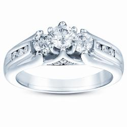 14k White Gold 1ct TDW Diamond Wedding Ring (H-I, I1-I2)