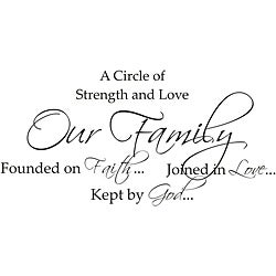 Vinyl Attraction 'A Circle of Strength and Love' Wall Decal