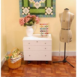 Kangaroo Kabinets 'Joey' White Ash Crafts & Sewing Storage and Organization Cabinet