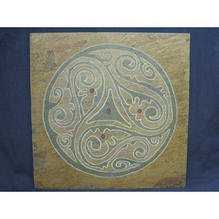 Free Spirit' Hand-carved Stone Art Tile