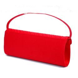Dasein Women's Pleated Satin Rhinestone Evening Bag