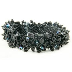 Onyx and Black Bead 'Midnight' Capullo Bracelet (Guatemala)