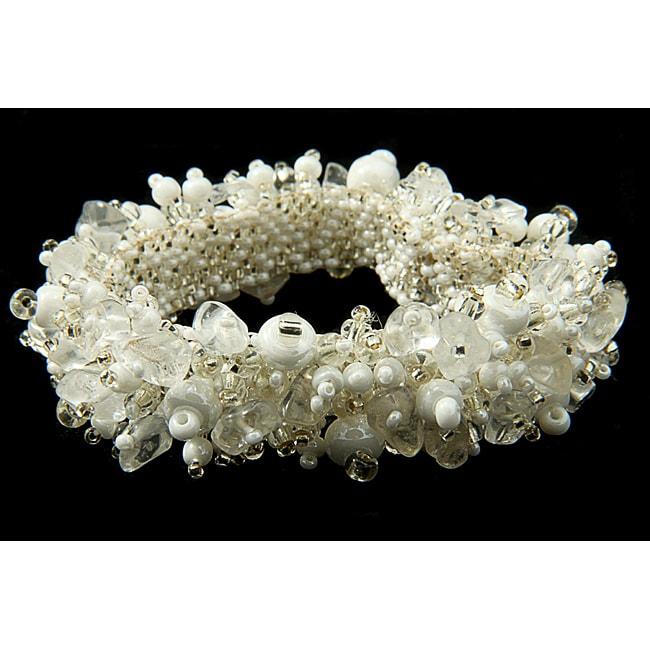 Crystal Bead 'Winter' Capullo Bracelet (Guatemala)