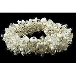 Crystal Bead 'Winter' Capullo Bracelet (Guatemala)