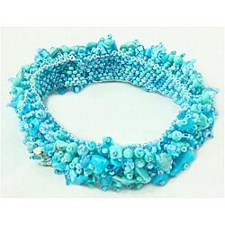 Turquoise and Glass Bead Capullo Bracelet (Guatemala)