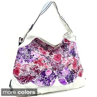 Dasein Floral Print Hobo Bag