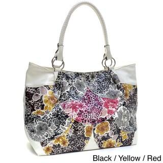 Dasein Floral Print Tote Bag