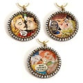 Sweet Romance Vintage Vixens Retro Pinup Comic Necklace