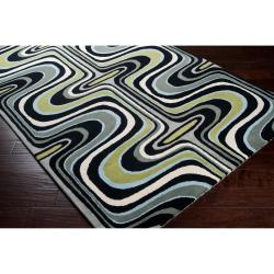 Tepper Jackson Hand-Tufted Contemporary Multicolored Swirl Dreamscape Abstract Wool Area Rug (5' x 8