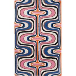 Tepper Jackson Hand-tufted Contemporary Multi Colored Swirl Dreamscape Wool Abstract Rug (5' x 8')