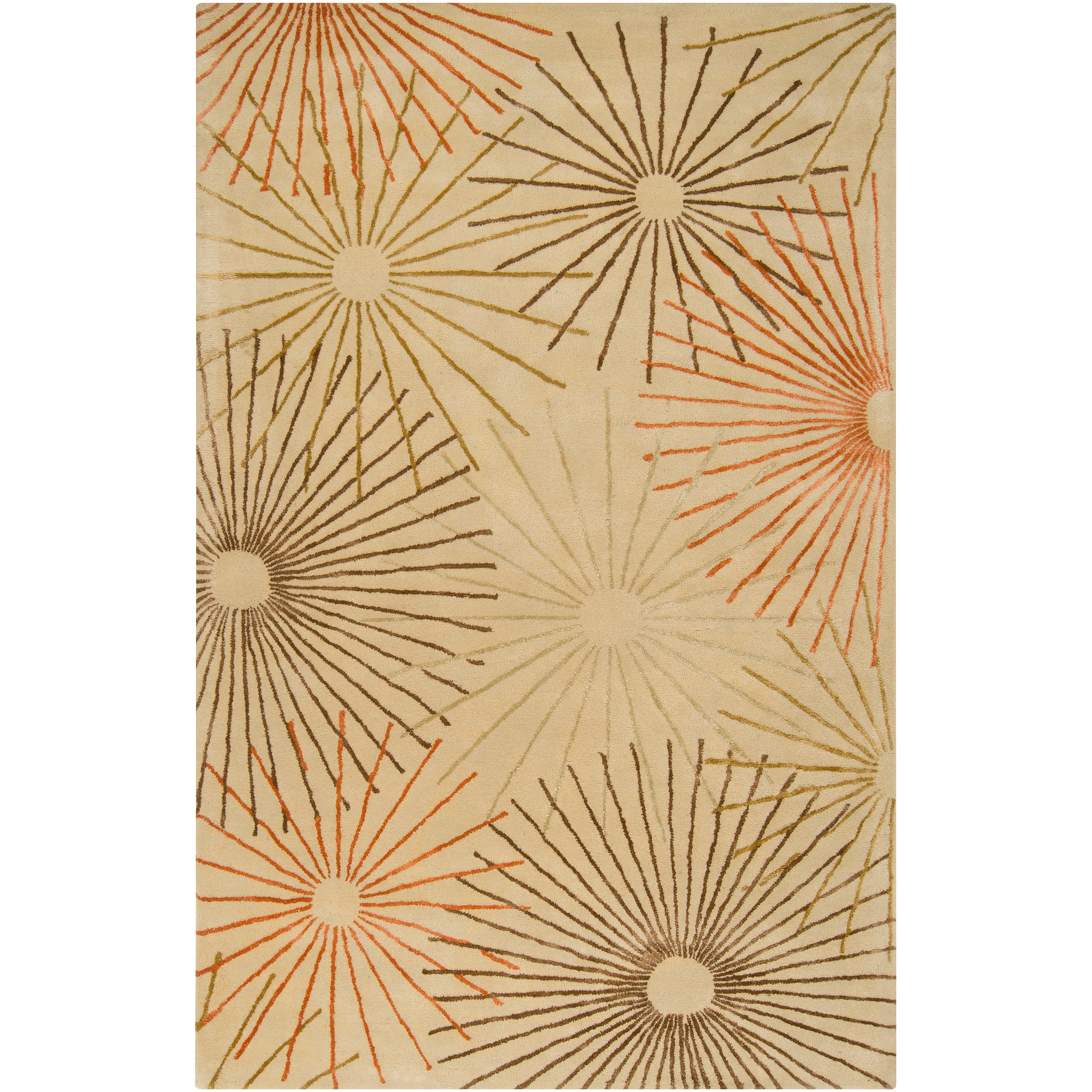 Hand-tufted Black Essence New Zealand Wool and Viscose Rug (5'x 8')