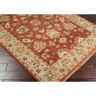 Hand-knotted Burgundy Estate Hand Spun New Zealand Wool Rug (8' x 11')