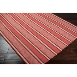 Country Living Hand-woven Coral Hokkien Wool Rug (8' x 11')