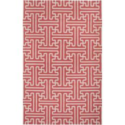 Smithsonian Hand-woven Coral Galapagos Wool Rug (8' x 11')