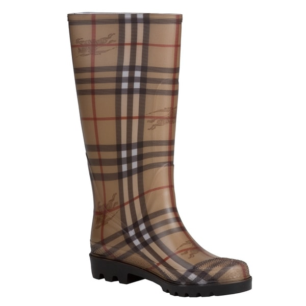 Burberry 3201797 Haymarket Check Rubber Rain Boots