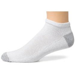 Hanes Men's Cushion Low-cut White Socks (Pack of 10)