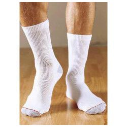 Hanes Men's Cushion Crew White Socks (Pack of 6)