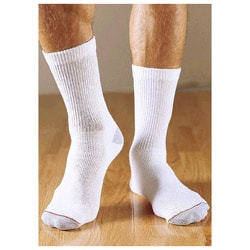 Hanes Men's Cushion Crew White Socks (Pack of 3)