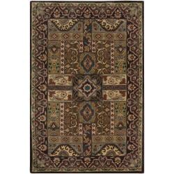 Hand-tufted Brown Laeken Wool Rug (6' x 9')