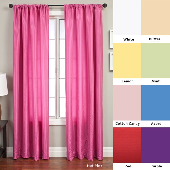 Luminous 84-inch Rod Pocket Curtain Panel