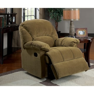 Furniture of America Harper Smooth Olive Brown Bella Fabric Recliner Chair