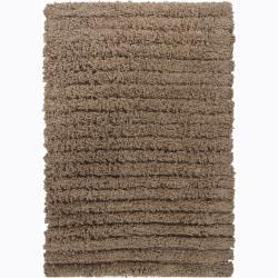 Handwoven Mandara Wool Shag Area Rug (5' x 7'6)
