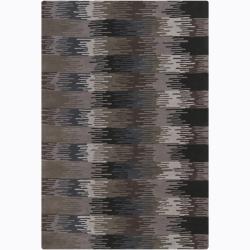 Hand-Tufted Earth-Toned Mandara Wool Rug (7'9 x 10'6)