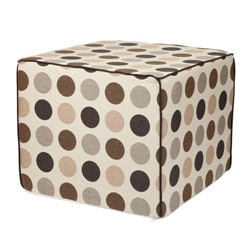 Brooklyn 22-inch Square Beige Outdoor Ottoman made with Sunbrella Fabric
