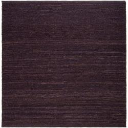 Hand-woven Purple Bobwhite Natural Fiber Jute Rug (8' Square)