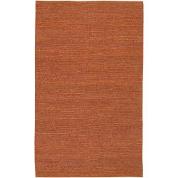 Hand-woven Orange Goldfinch Natural Fiber Jute Rug (9' x 13')