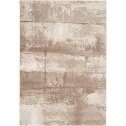Meticulously Woven Tan Dove Abstract Rug (5'3 x 7'6)