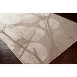 Meticulously Woven Tan Spindalis Abstract Rug (7'10 x 10')